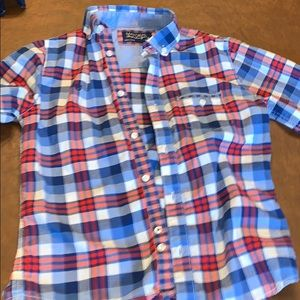 Mayoral red white and blue button down